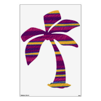 Palm tree with warm colors room sticker