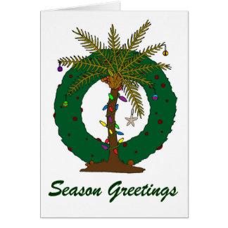 PALM TREE WREATH GREETING CARD