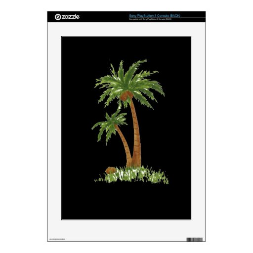 Palm Tree Zazzle Skin PS3 Console Decals