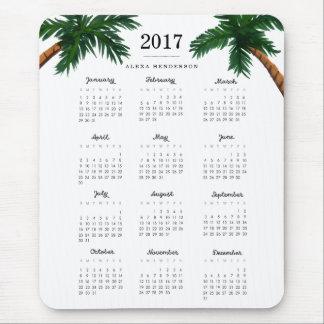 Palm Trees 2017 Calendar Mouse Pad