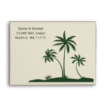 palm trees 5x7 envelopes