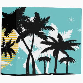 Palm Trees Abstract Binder 3 Ring Binders
