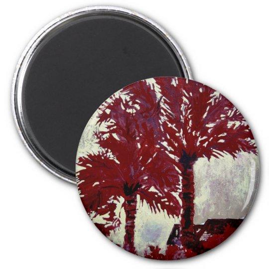 palm trees acrylic modern tropical wall art magnet