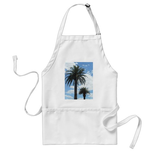 palm trees adult apron