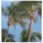 Palm Trees Against Blue Sky Cloth Napkin