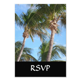 Palm Trees Against Blue Sky 3.5x5 Paper Invitation Card