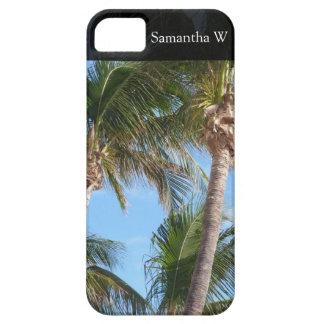 Palm Trees Against Blue Sky iPhone SE/5/5s Case