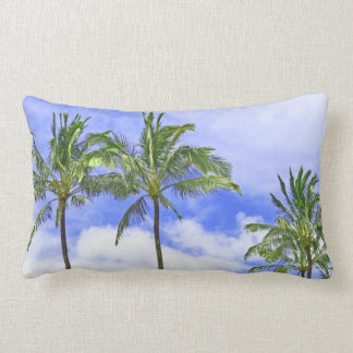 """""""PALM TREES AGAINST BLUE SKY & WHITE CLOUDS"""" PILLOWS"""