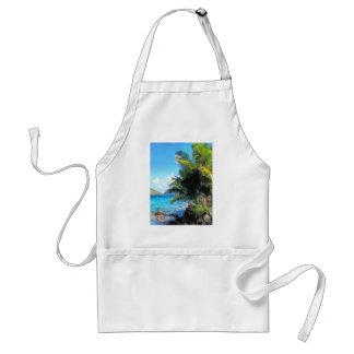 Palm Trees and Beach St. Thomas VI Adult Apron