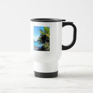 Palm Trees and Beach St. Thomas VI 15 Oz Stainless Steel Travel Mug