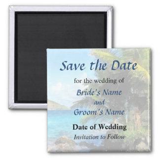 Palm Trees and Beach St. Thomas VI Save the Date Magnet