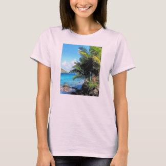 Palm Trees and Beach St. Thomas VI T-Shirt