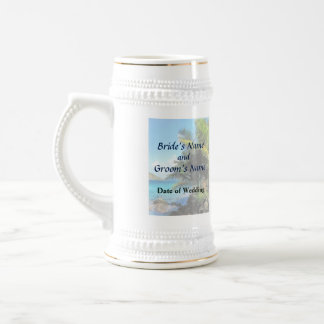 Palm Trees and Beach St Thomas VI Wedding Products Beer Stein