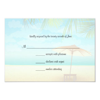 Palm Trees And Beach Umbrella Response Card