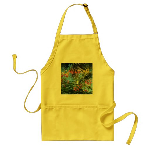 Palm Trees and Caribbean Flowers!  Apron