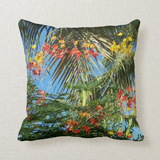 Palm Trees and Caribbean Flowers!   Pillows