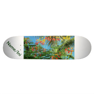 Palm Trees and Caribbean Flowers! Skateboard