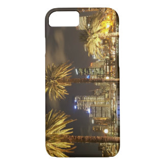 Palm Trees and CBD at Night, Sydney, New South iPhone 7 Case