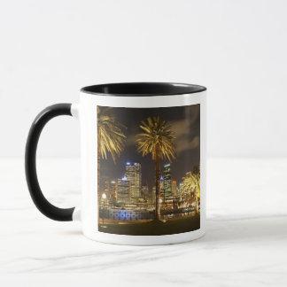 Palm Trees and CBD at Night, Sydney, New South Mug