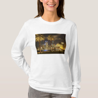 Palm Trees and CBD at Night, Sydney, New South T-Shirt