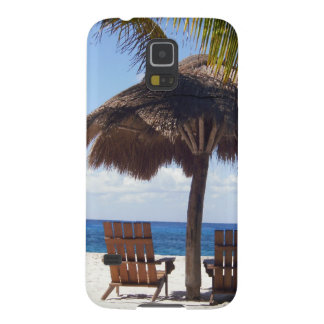 Palm Trees and chairs Mexico Beach Galaxy S5 Case