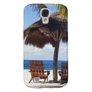 Palm Trees and chairs Mexico Beach Samsung Galaxy S4 Case