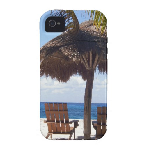 Palm Trees and chairs Mexico Beach Vibe iPhone 4 Covers