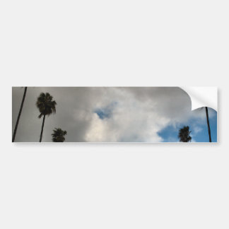 palm trees and clouds bumper sticker