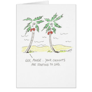 Palm Trees and Coconuts Card