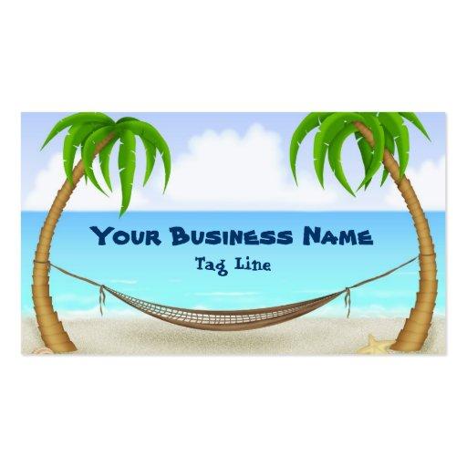 Palm Trees and Hammock Beach Business Card