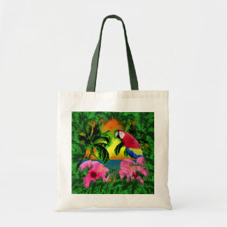 Palm Trees And Island Sunsets Budget Tote Bag