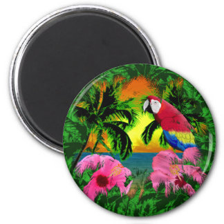 Palm Trees And Island Sunsets Fridge Magnets