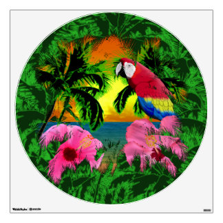 Palm Trees And Island Sunsets Wall Sticker