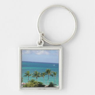 Palm trees and Ocean keyring