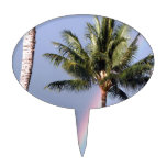 Palm Trees and Rainbow Cake Toppers