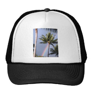 Palm Trees and Rainbow Trucker Hat