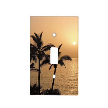 Beach Themed Palm Trees and Romantic Sunset Light Switch Cover
