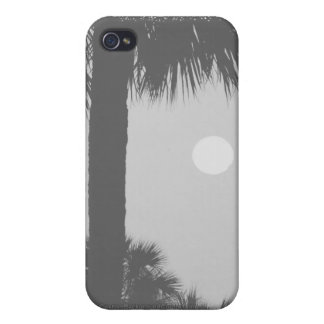 Palm trees and sun iPhone 4 cover