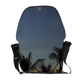 Palm trees and sunset, Mindil Beach, Darwin Courier Bag