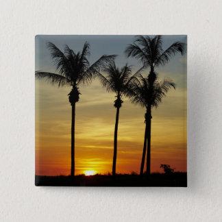 Palm trees and sunset, Mindil Beach, Darwin Pinback Button