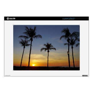 Palm trees and sunset, Mindil Beach Laptop Skin
