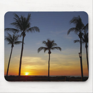 Palm trees and sunset, Mindil Beach Mouse Pad