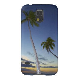 Palm trees and sunset, Plantation Island Resort Galaxy S5 Case