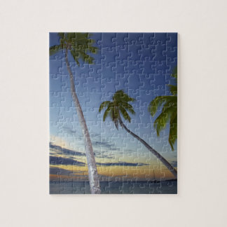 Palm trees and sunset, Plantation Island Resort Jigsaw Puzzle
