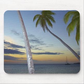 Palm trees and sunset, Plantation Island Resort Mousepads