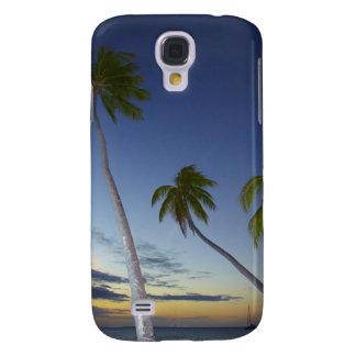 Palm trees and sunset, Plantation Island Resort Samsung Galaxy S4 Case