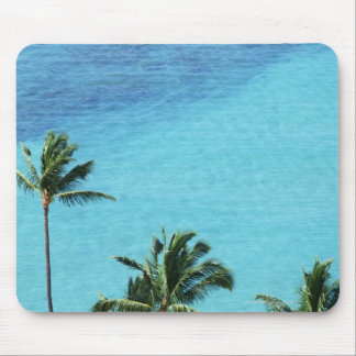 Palm trees and surface of the sea mouse pad