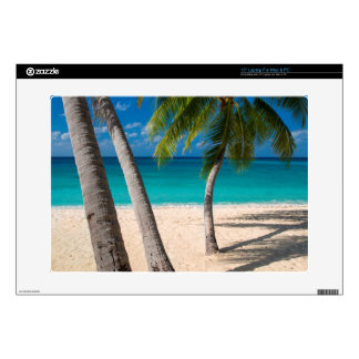 Palm trees and turquoise water along Seven-Mile Laptop Decals