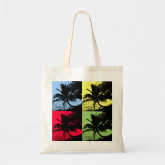 Palm trees and water tote bag