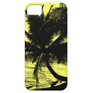 Palm trees and water - Yellow iPhone SE/5/5s Case